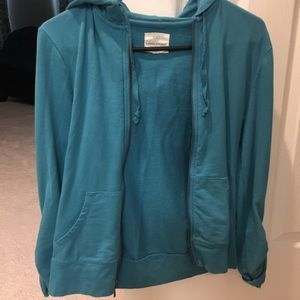 Banana Republic blue zip up hoodie